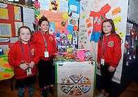 20 Aug 2016: U11 Project team from Derry. l-r; Maggie Shiels, 9, Mia Gilliespie, 10, Carla McLaughlin, 10.   2016 Community Games National Festival 2016.  Athlone Institute of Technology, Athlone, Co. Westmeath. Picture: Caroline Quinn