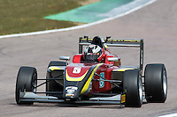 #5 Jeremy WAHOME (KEN)  Chris Dittmann Racing  Tatuus-Cosworth  BRDC British F3 Championship at Rockingham, Corby, Northamptonshire, United Kingdom. April 30 2016. World Copyright Peter Taylor/PSP.