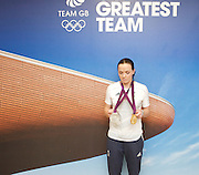 Victoria Pendleton <br /> Olympics London 2012 <br /> press conference at Team GB House, Stratford, London, Great Britain <br /> 7th August 2012 <br /> <br /> Victoria Pendleton <br /> <br /> <br /> Photograph by Elliott Franks