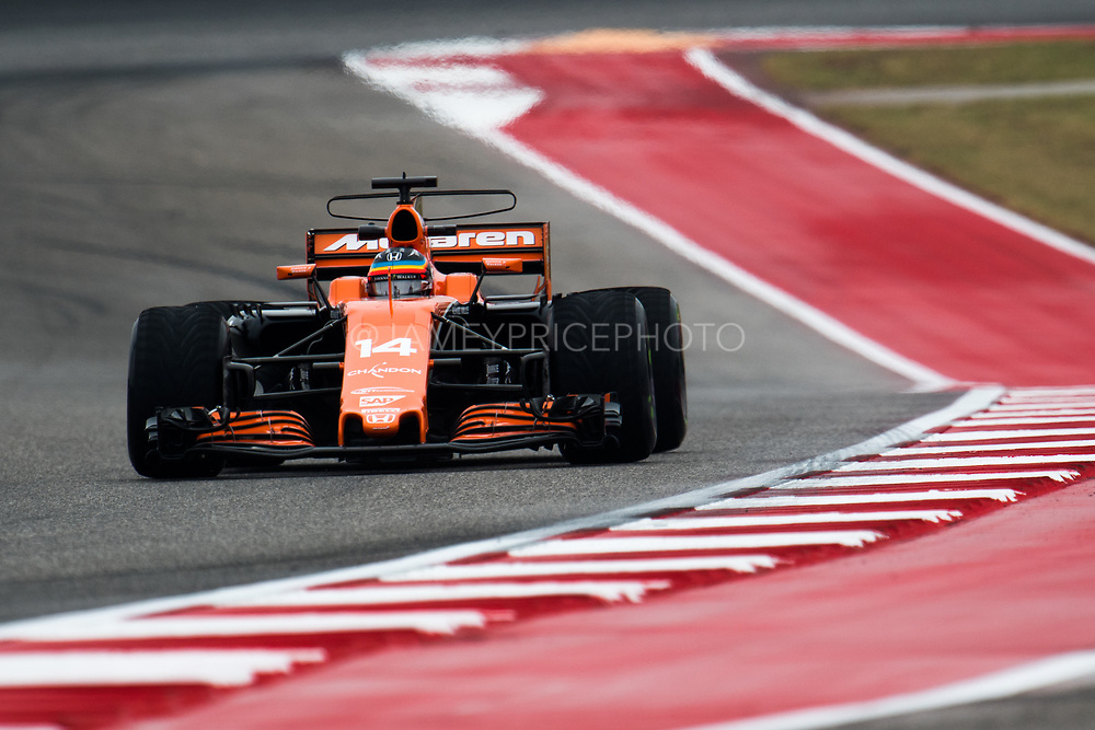 October 19-22, 2017: United States Grand Prix. Fernando Alonso (SPA), McLaren Honda,  MCL32