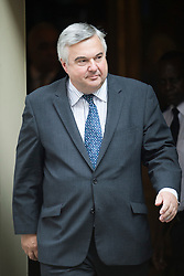 © London News Pictures. 04/09/2012. London, UK.  Oliver Heald MP leaving Number 10 Downing street after being appointed Solicitor General? on the day of cabinet reshuffle, September 04, 2012. Photo credit: Ben Cawthra/LNP