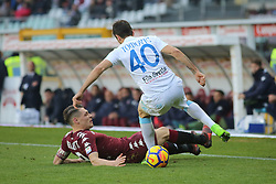 November 19, 2017 - Turin, Piedmont, Italy - Andrea Belotti (Torino FC, left) and Nenad Tomovic (Chievo Verona, right) compete for the ball during the Serie A football match between Torino FC and AC Chievo Verona at Olympic Grande Torino Stadium on 19 November, 2017 in Turin, Italy. (Credit Image: © Massimiliano Ferraro/NurPhoto via ZUMA Press)