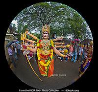 An Actor Portraying the Goddess Durga
