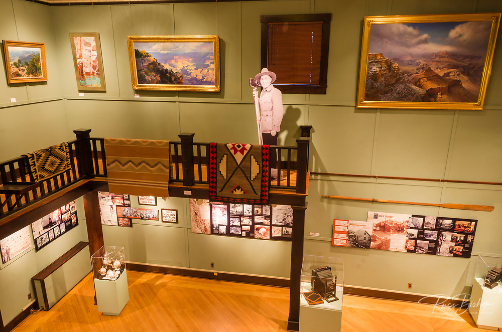 Interior displays at Kolb Studio, Grand Canyon National Park, Arizona USA