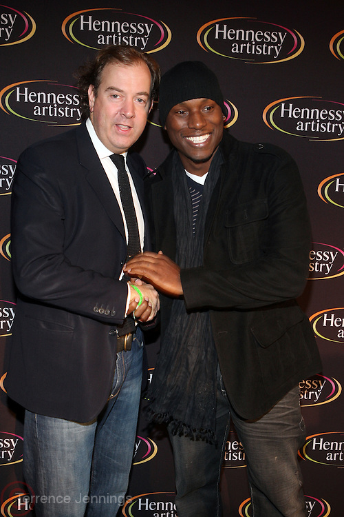 l to r: Mark Cornell and Tyrese at The Hennessey Artistry Concert Series held at Terminal 5 on  October 7, 2009 in New York City