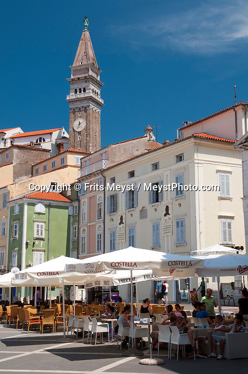 Piran, Julian Alps, Slovenia, July 2011. The old historical center of Piran, also known as Pirano, one of the few places on the Slovenian adriatic coast. Slovenia boasts a very spectacular carstic landscape with high limestone rock formations oozing with waterfalls, and fast flowing cristal clear waters that run through the Soca from the Triglav National Park to the Adriatic Sea. Photo by Frits Meyst/Adventure4ever.com