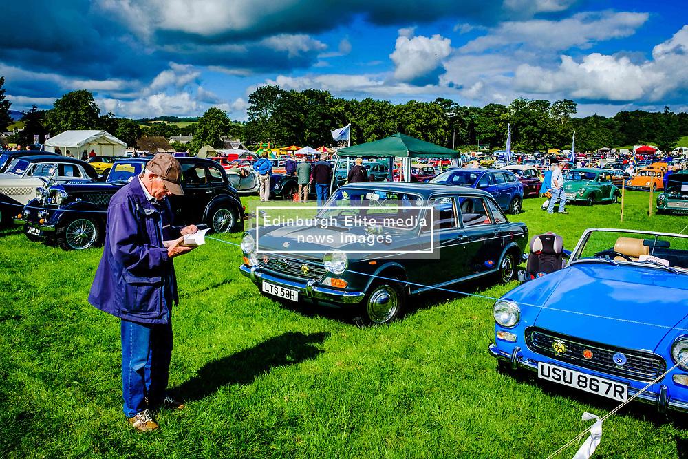 The 44th Biggar Vintage Vehicle Rally held in Biggar on 13th August 2017.  General view of the rally.<br /> <br /> (c) Andrew Wilson | Edinburgh Elite media