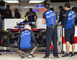 October 20, 2018 - Austin, Texas, U.S - Red Bull Toro Rosso Honda team Pit Practice (Credit Image: © Hoss McBain/ZUMA Wire)