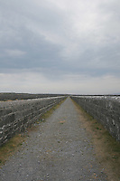 walled pathway on Inis Oirr the Aran Islands Galway Ireland