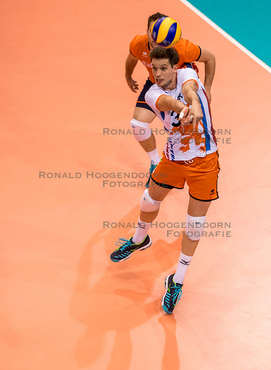 20-05-2018 NED: Netherlands - Slovenia, Doetinchem<br /> First match Golden European League / Maarten van Garderen #3 of Netherlands
