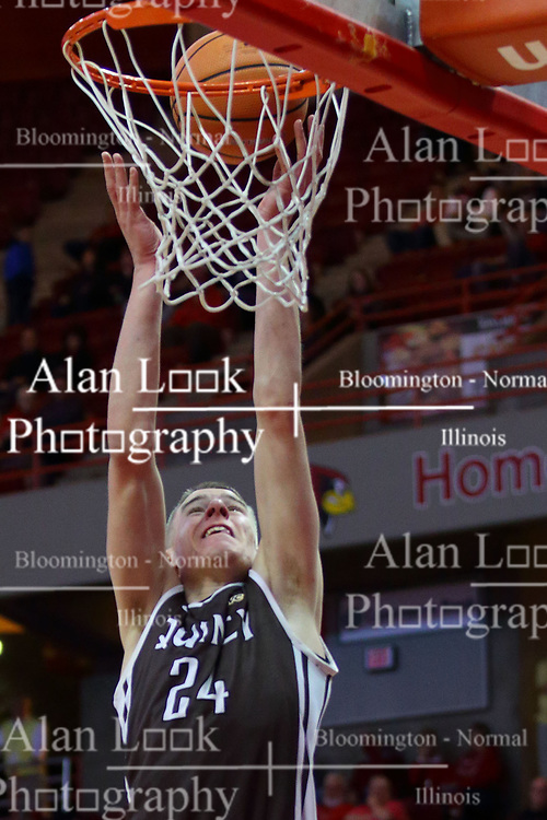 22 November 2017:  Tanner Zurcher during a College mens basketball game between the Quincy Hawks and Illinois State Redbirds in  Redbird Arena, Normal IL