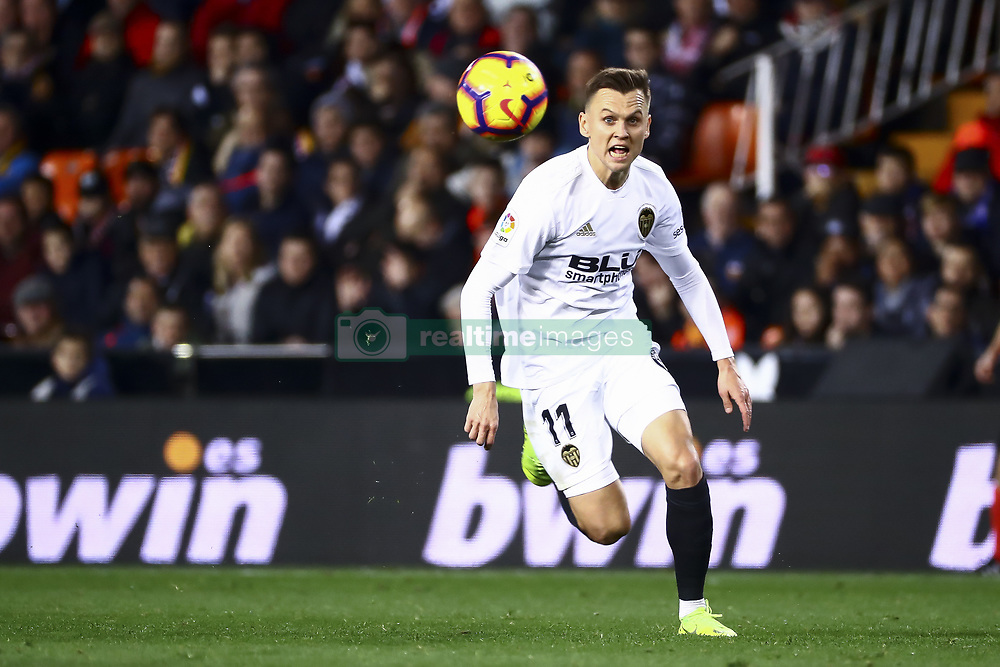 January 26, 2019 - Valencia, Spain - Denis Cheryshev of Valencia CF  during  spanish La Liga match between Valencia CF vs Villarreal CF at Mestalla Stadium on Jaunary  26, 2019. (Credit Image: © Jose Miguel Fernandez/NurPhoto via ZUMA Press)