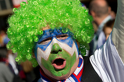 Slovenian fan enjoys the atmosphere ahead of the 2010 FIFA World Cup South Africa Group C match between Slovenia and USA at Ellis Park Stadium on June 18, 2010 in Johannesberg, South Africa. (Photo by Vid Ponikvar / Sportida)