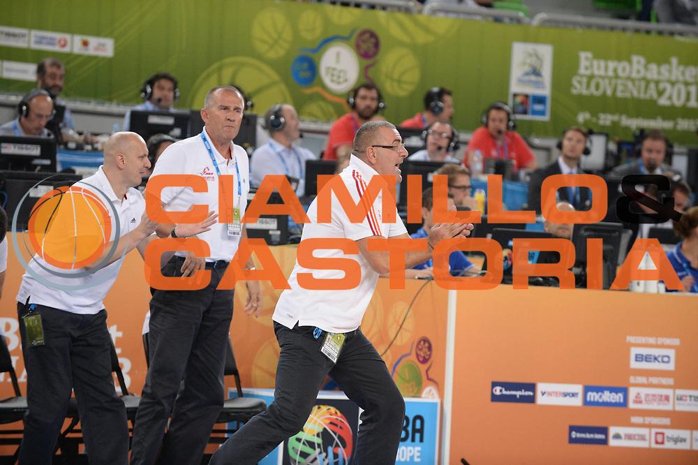 DESCRIZIONE : Lubiana Ljubliana Slovenia Eurobasket Men 2013 Finale Terzo Quarto Posto Spagna Croazia Final for 3rd to 4th place Spain Croatia<br /> GIOCATORE : Jasmin Repesa<br /> CATEGORIA : esultanza jubilation<br /> SQUADRA : Croazia Croatia<br /> EVENTO : Eurobasket Men 2013<br /> GARA : Spagna Croazia Spain Croatia<br /> DATA : 22/09/2013 <br /> SPORT : Pallacanestro <br /> AUTORE : Agenzia Ciamillo-Castoria/M.Ceretti<br /> Galleria : Eurobasket Men 2013<br /> Fotonotizia : Lubiana Ljubliana Slovenia Eurobasket Men 2013 Finale Terzo Quarto Posto Spagna Croazia Final for 3rd to 4th place Spain Croatia<br /> Predefinita :