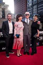 Anthony Hopkins is joined by his wife Stella Arroyave and family at the US Premier of 'Transformers: The Last Knight' on the Chicago River in front of the Civic Opera House on Tuesday June 20, 2017 in Chicago, IL. Photo: Christopher Dilts / Sipa USA *** Please Use Credit from Credit Field ***