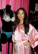 Nov. 10, 2015 - New York City, NY, USA - <br /> <br /> Model Lily Aldridge poses with the m fantasy bra backstage prior to the 2015 Victoria's Secret Runway Show<br /> ©Exclusivepix Media