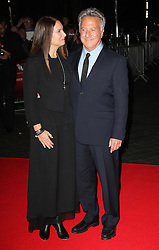 Dustin Hoffman and his wife  arriving for the screening of his new film Quartet at the London Film Festival, Monday, 15th October 2012.  Photo by: Stephen Lock / i-Images