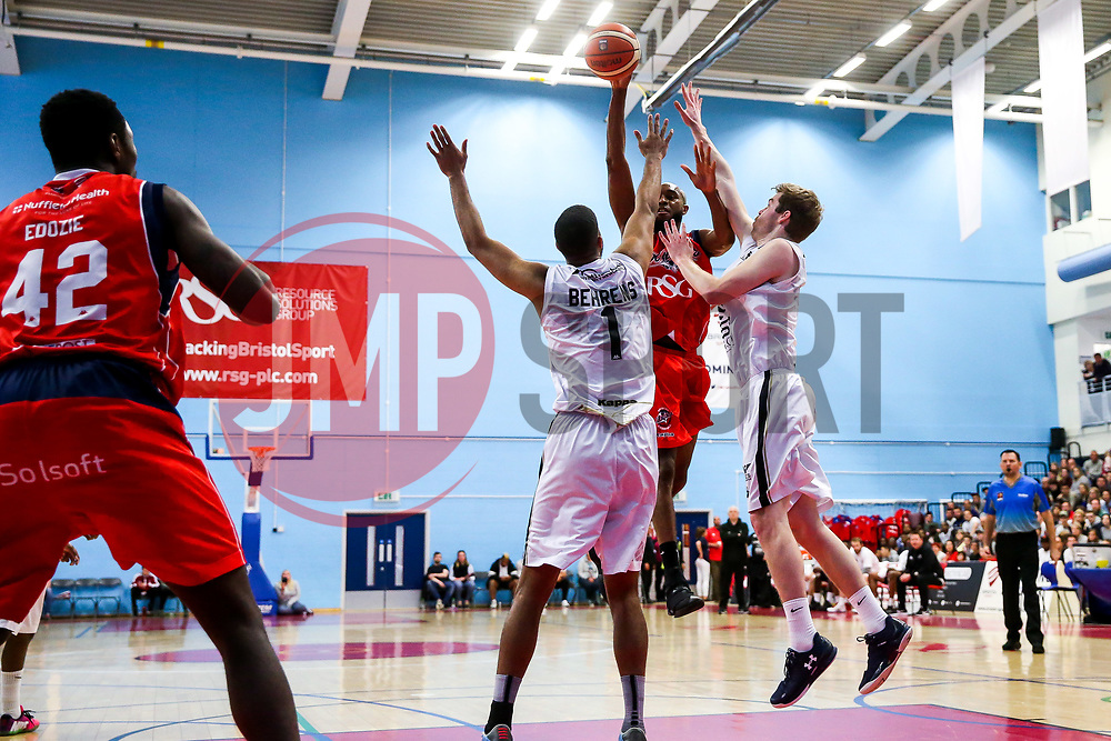 Brandon Boggs of Bristol Flyers - Rogan Thomson/JMP - 28/04/2017 - BASKETBALL - SGS Wise Arena - Bristol, England - Bristol Flyers v Newcastle Eagles - BBL Championship Play-Off Quarter Final First Leg.