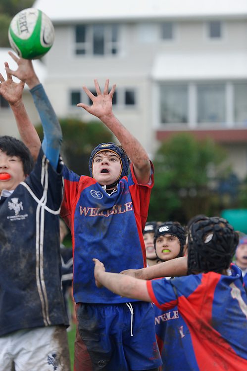 Wellesley College Old Boy Sports Day. .Thursday June 30, 2011..Photo: Mark Tantrum/photosport.co.nz