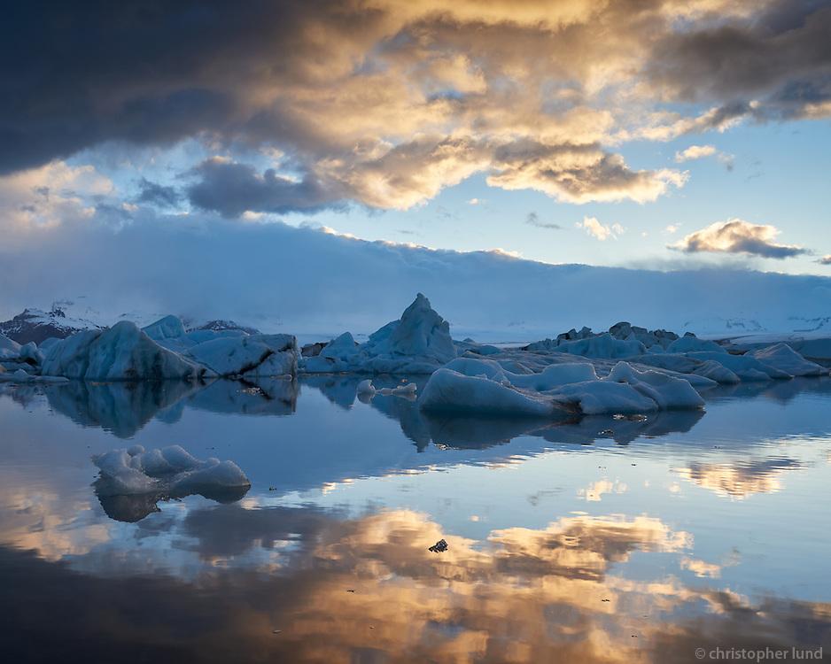 Breiðamerkurlón - also called Jökuslárlón - Glacial Lagoon, Southeast Iceland.