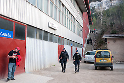 The match was played in empty hall because they did not get the papers in time at ice-hockey match between HK Acroni Jesenice and HDD Tilia Olimpija in third game of Final at Slovenian National League, on April 7, 2011 at Hala Tivoli, Ljubljana, Slovenia. (Photo By Matic Klansek Velej / Sportida.com)