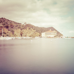 Catalina Island Avalon Bay vintage picture with the Catalina Casino.