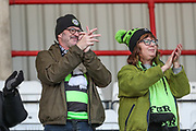 FGR fans during the EFL Sky Bet League 2 match between Morecambe and Forest Green Rovers at the Globe Arena, Morecambe, England on 17 February 2018. Picture by Shane Healey.