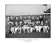 Interprovincial Railway Cup Hurling Final, .Leinster v Munster, .Leinster Team.Leinster.0-9.Munster.0-5.17.03.1954, 03.17.1954, 17th March 1954,