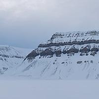 Spitsbergen - Frozen Fjord panorama