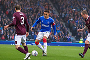 James Tavernier (C) of Rangers FC during the Betfred Scottish League Cup semi-final match between Rangers and Heart of Midlothian at Hampden Park, Glasgow, United Kingdom on 3 November 2019.