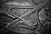 Aerial view of Raasdorp junction near Amsterdam // Knooppunt Raasdorp vanuit de lucht gezien.