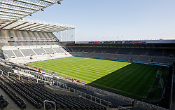 NEWCASTLE-UPON-TYNE, ENGLAND - Sunday, April 1, 2012: A general view of St James' Park before the Premiership match between Newcastle United and Liverpool. (Pic by Vegard Grott/Propaganda)