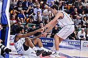 Travor Lacey, Giacomo Devecchi<br /> Banco di Sardegna Dinamo Sassari - Red October Pallacanestro Cantù<br /> LegaBasket Serie A Poste Mobile 2016/2017<br /> Sassari 12/02/2017<br /> Foto Ciamillo-Castoria