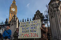 2 Feb. 2015 - Save Manston airport campaigners take protest to Parliament.