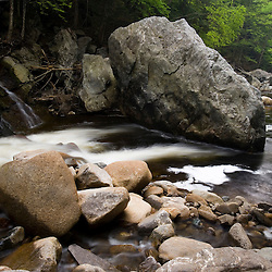 The Ashuelot River as it flows through Gilsum Gorge in Gilsum, New Hampshire.