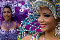 Celebración de los Carnavales en la ciudad de Panamá, también denominados fiestas del rey Momo, son festejados por cuatro días consecutivos, anteriores al Miércoles de ceniza. Esta festividad de Panamá termina el martes en la noche con el entierro de la sardina. En el 2010 celebra 100 años..Ramon Lepage / Istmophoto.
