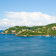 Headland of the bay at Zihuatanejo, Mexico