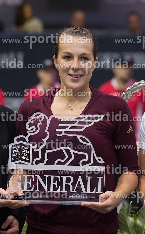 18.10.2015, TipsArena, Linz, AUT, WTA Tour, Generali Ladies Linz, Finale, im Bild Anastasia Pavlyuchenkova (RUS) // Anastasia Pawljutschenkowa of Russia during Generali Ladies Linz, WTA Tournament Final Match at the TipsArena in Linz, Austria on 2015/10/18. EXPA Pictures © 2015, PhotoCredit: EXPA/ Reinhard Eisenbauer
