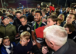 Bristol Rugby Flanker Marco Mama is mobbed by fans - Mandatory byline: Joe Meredith/JMP - 25/05/2016 - RUGBY UNION - Ashton Gate Stadium - Bristol, England - Bristol Rugby v Doncaster Knights - Greene King IPA Championship Play Off FINAL 2nd Leg.