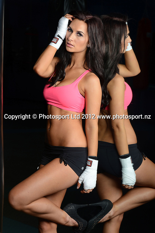 Rosanna Arkle Photoshoot ahead of the KFC Godfather of All Fight Nights, Boxing Central, Mt Eden, Auckland on Thursday 31 May 2012. Photo: Andrew Cornaga/Photosport.co.nz