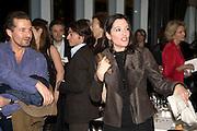 Jose Maria Cano and Cristina Iglesias, Reception, private view and dinner.; Juan Munoz- A Retrospective. Tate Modern. -DO NOT ARCHIVE-© Copyright Photograph by Dafydd Jones. 248 Clapham Rd. London SW9 0PZ. Tel 0207 820 0771. www.dafjones.com.