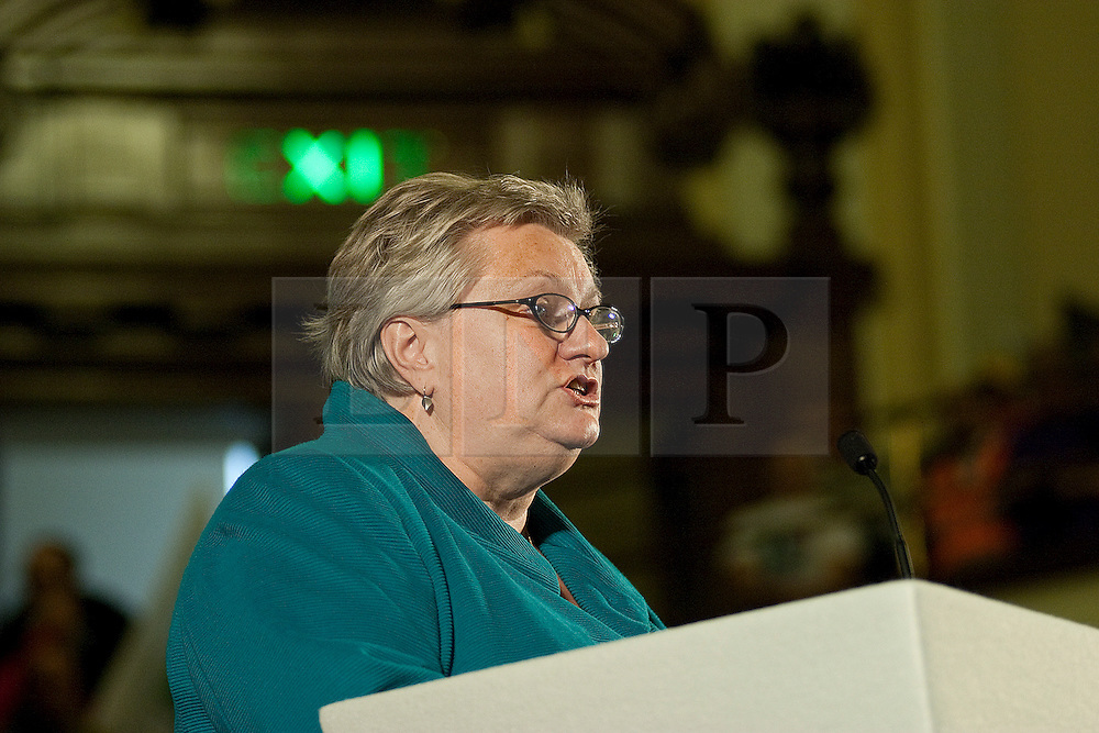 © under license to London News Pictures. 19/10/2010. Alison Garnham of the Child Poverty Action Group, at the All Together for Public Services Rally against government cuts in Central London.