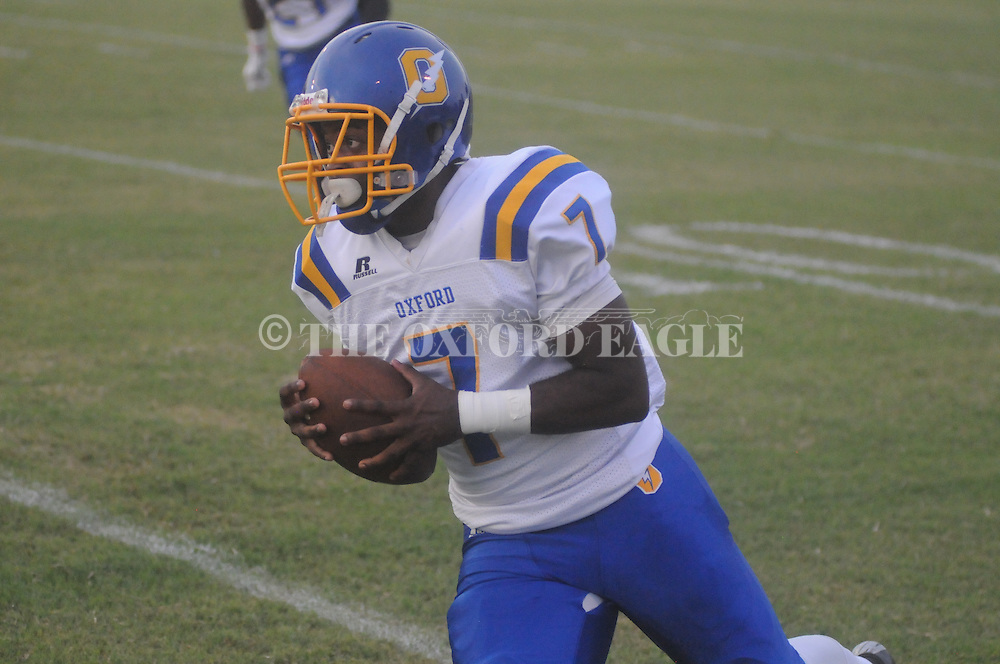 Oxford High's D.K. Hutchins vs. Cleveland Eastside in Cleveland, Miss. on Friday, September 5, 2014. Oxford High won 50-15.