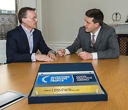 Pictured: Jamie Hepburn and John Moran, managing director Grant Properties<br />