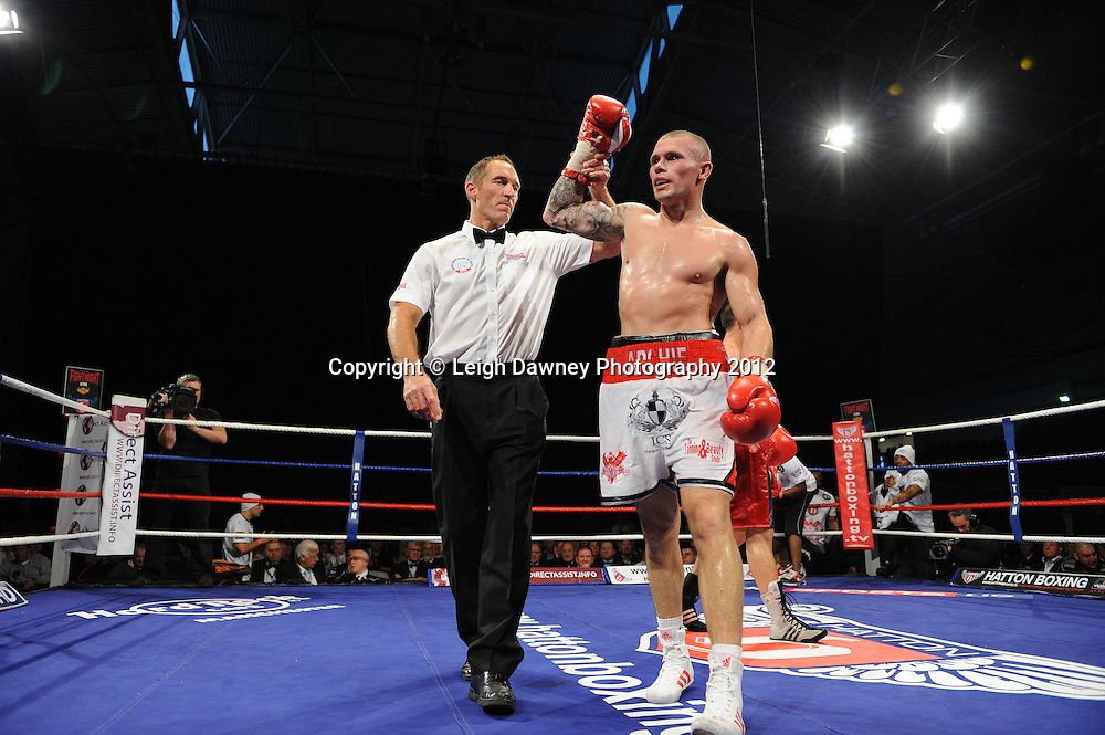 Martin Murray defeats Karim Achour in a 12x3 min round contest at the Velodrome, Manchester on the 16.06.12. Hatton Promotions. ©Leigh Dawney Photography 2012.