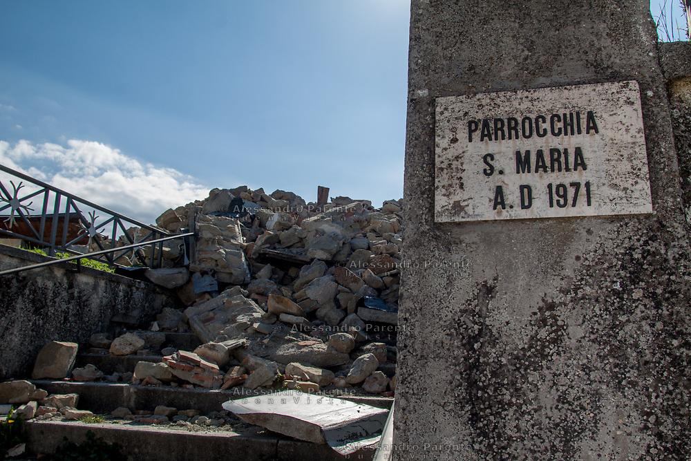 Non è rimasto niente della parrocchia Santa Maria. Torrita, sisma 2016 Italia