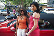 SANDRA FERNANDEZ; YASMINE HANNACHI, Pimlico Road party. 22 June 2010. -DO NOT ARCHIVE-© Copyright Photograph by Dafydd Jones. 248 Clapham Rd. London SW9 0PZ. Tel 0207 820 0771. www.dafjones.com.