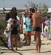 **EXCLUSIVE**.Letícia Birkheuer with boyfriend Alexandre Birman on the Beach in St. Stropez, France..Monday, July 23, 2007.Photo By Celebrityvibe.com.To license this image please call (212) 410 5354; or.Email: celebrityvibe@gmail.com ;