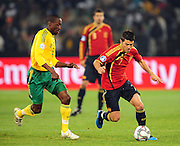David Villa  during the soccer match of the 2009 Confederations Cup between Spain and South Africa played at the Freestate Stadium,Bloemfontein,South Africa on 20 June 2009.  Photo: Gerhard Steenkamp/Superimage Media.