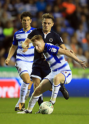 22 August 2017 -  EFL Cup Round Two - Reading v Millwall - Stephen Quinn of Reading in action with Ben Thompson of Millwall - Photo: Marc Atkins/Offside